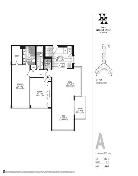 Harbour House Floorplans F D A B