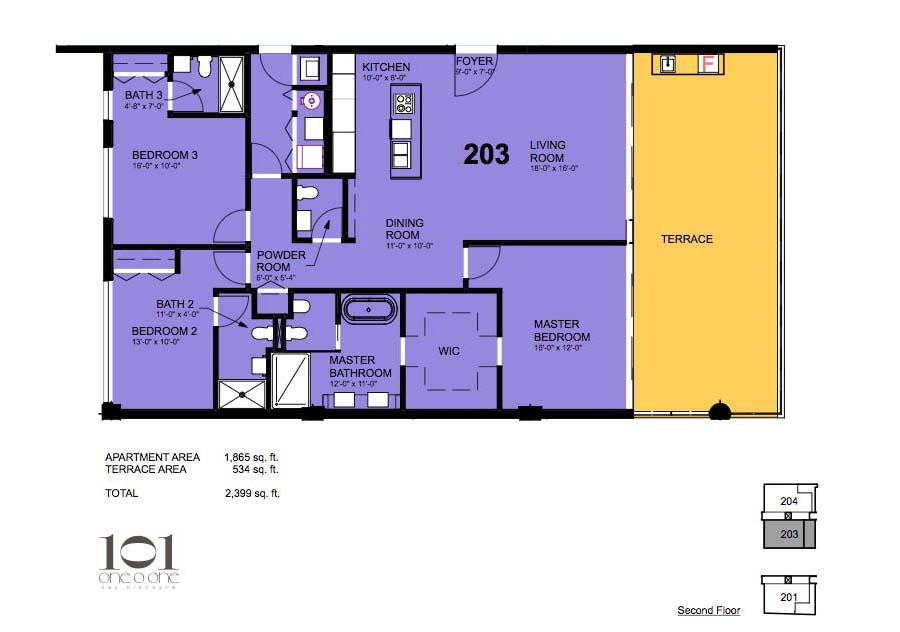 101 Key Biscayne - Floorplan 1