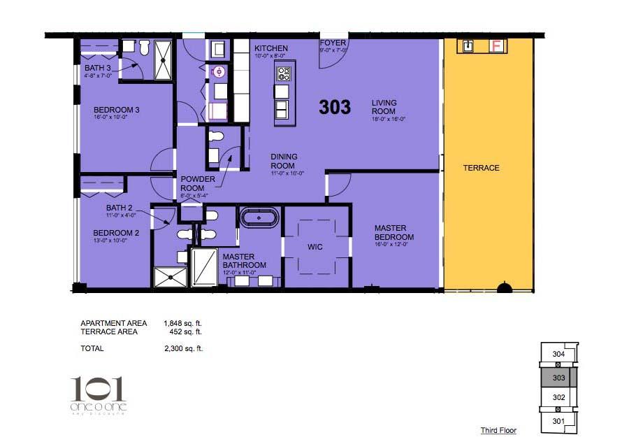 101 Key Biscayne - Floorplan 2