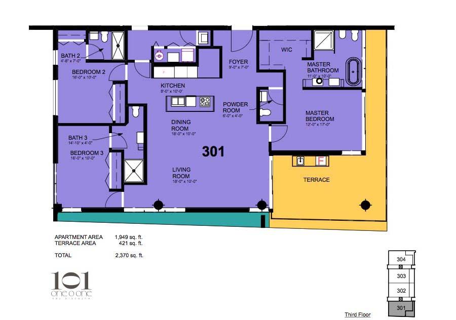 101 Key Biscayne - Floorplan 3