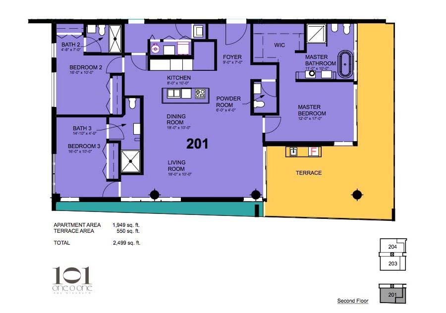 101 Key Biscayne - Floorplan 4