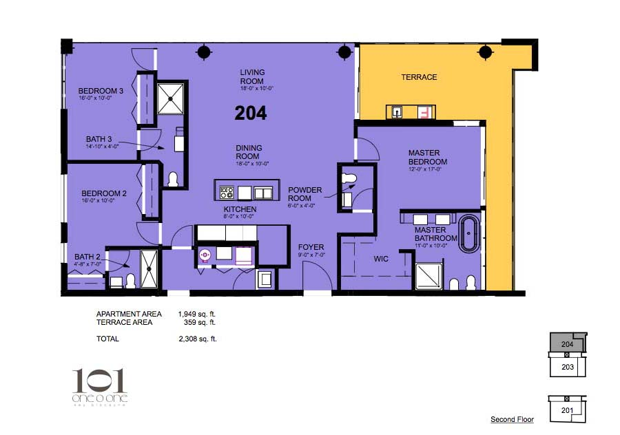 101 Key Biscayne - Floorplan 5