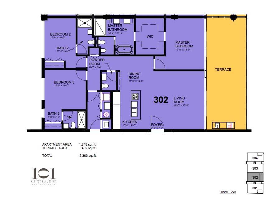 101 Key Biscayne - Floorplan 6