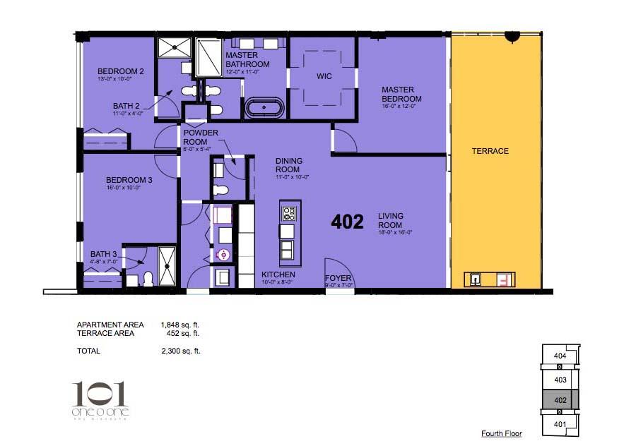 101 Key Biscayne - Floorplan 8