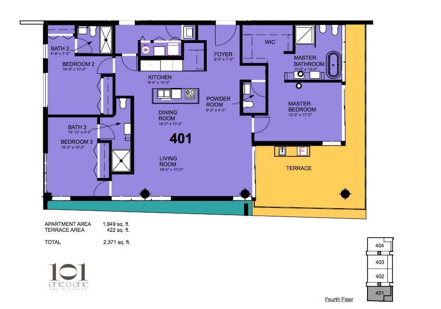 101 Key Biscayne - Floorplan 9