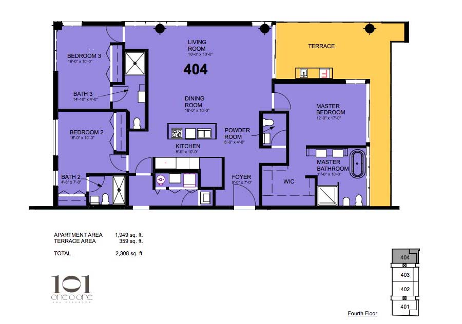 101 Key Biscayne - Floorplan 10