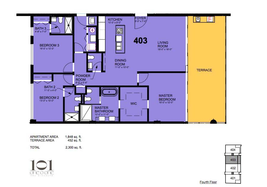 101 Key Biscayne - Floorplan 11