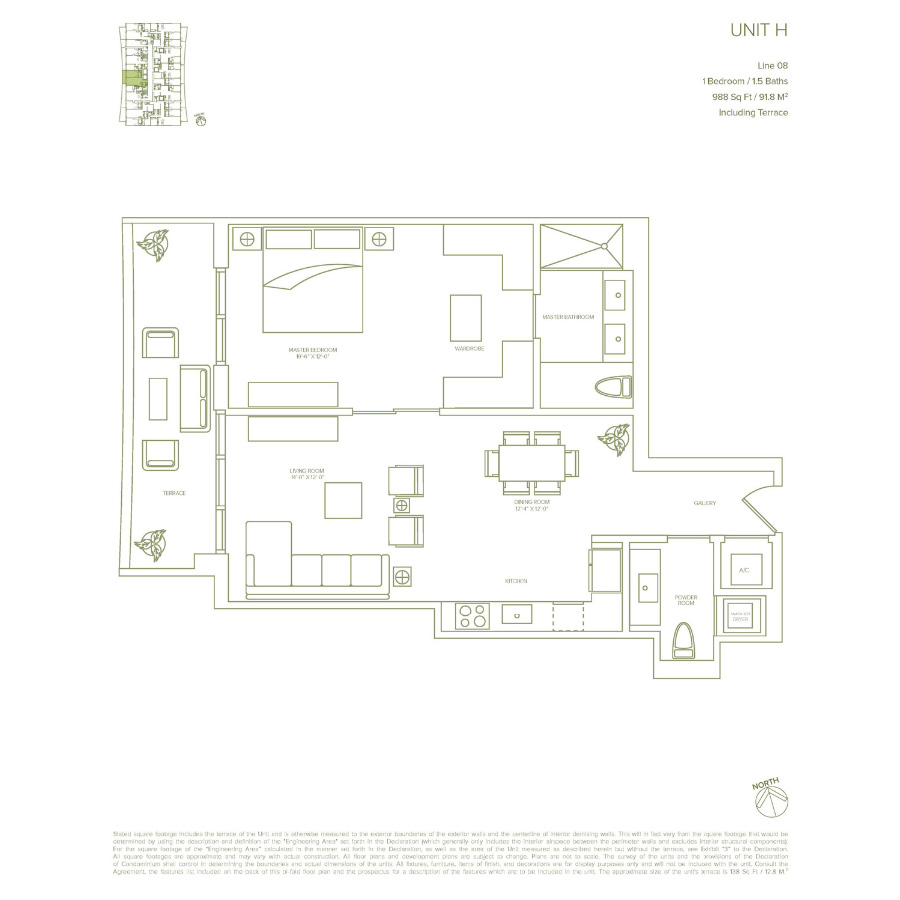 1010 Brickell - Floorplan 6