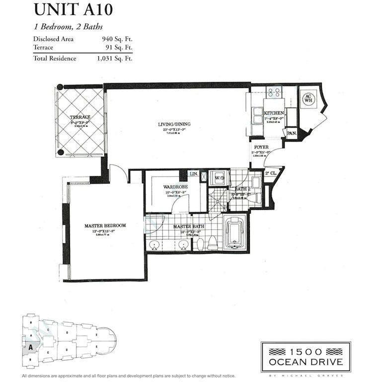 1500 Ocean Drive - Floorplan 1