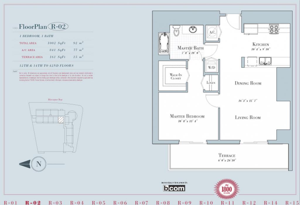 1800 club miami bogatov realty for 1800 club miami floor plans