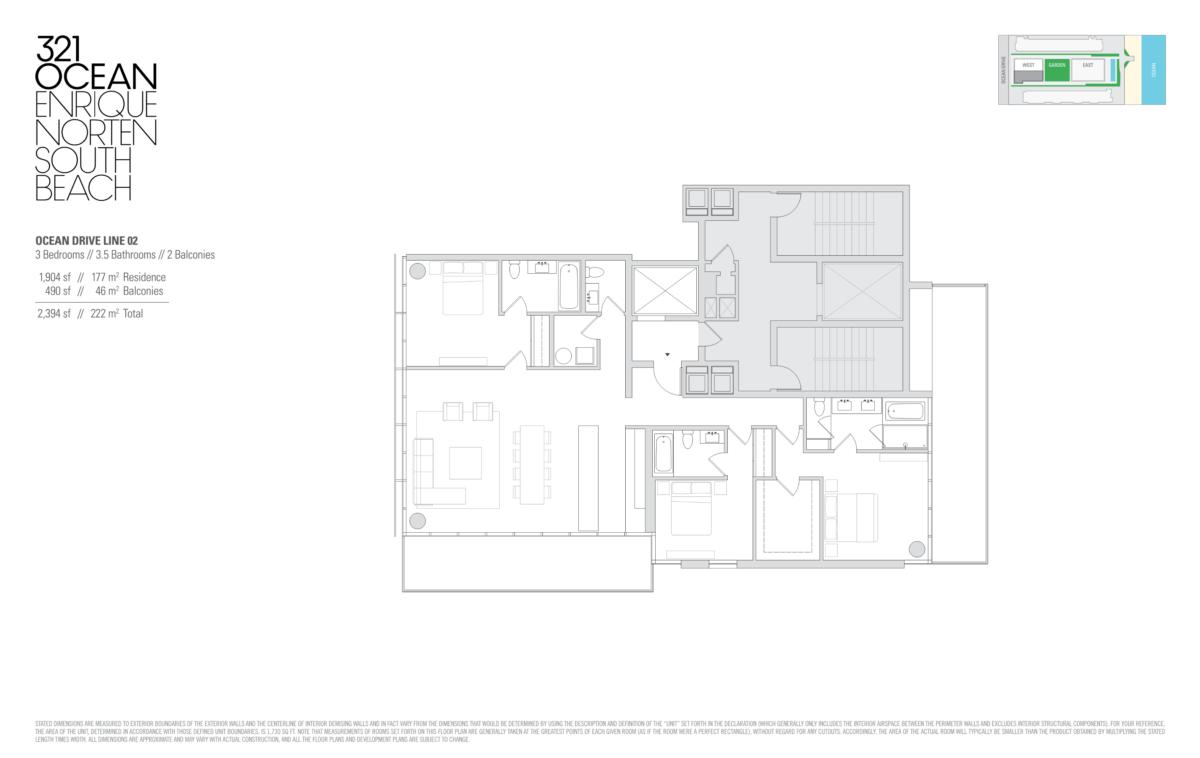 321 Ocean - Floorplan 1