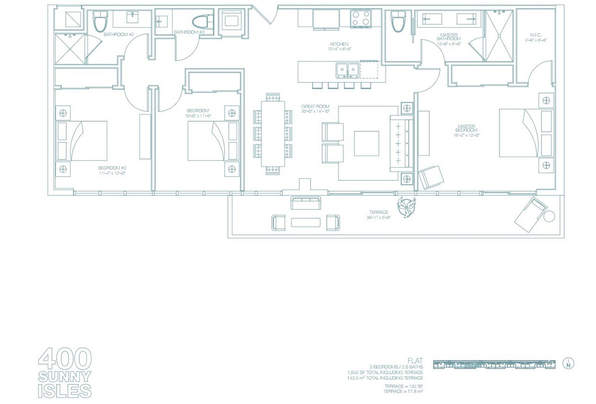400 Sunny Isles - Floorplan 1
