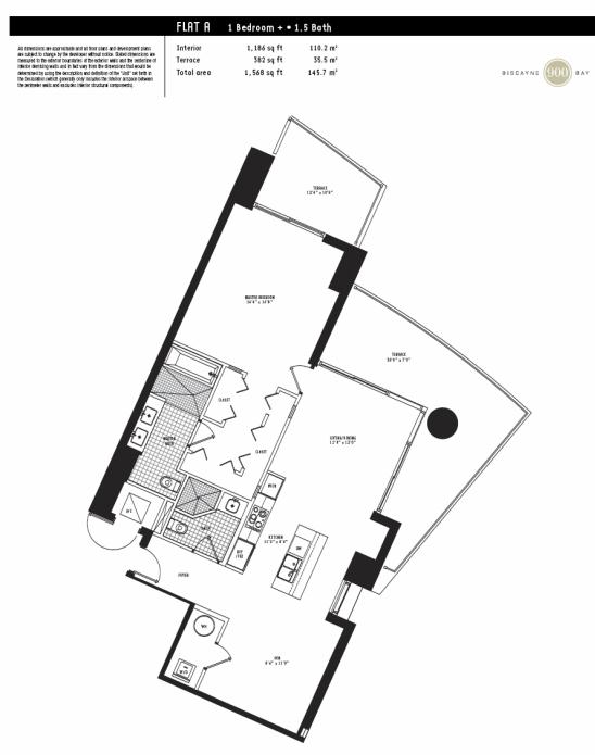 900 Biscayne - Floorplan 1