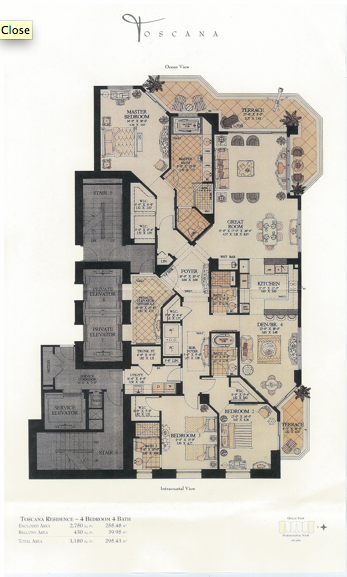 Acqualina - Floorplan 1