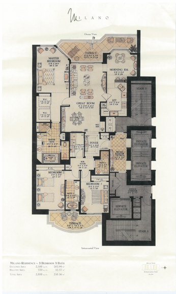 Acqualina - Floorplan 3