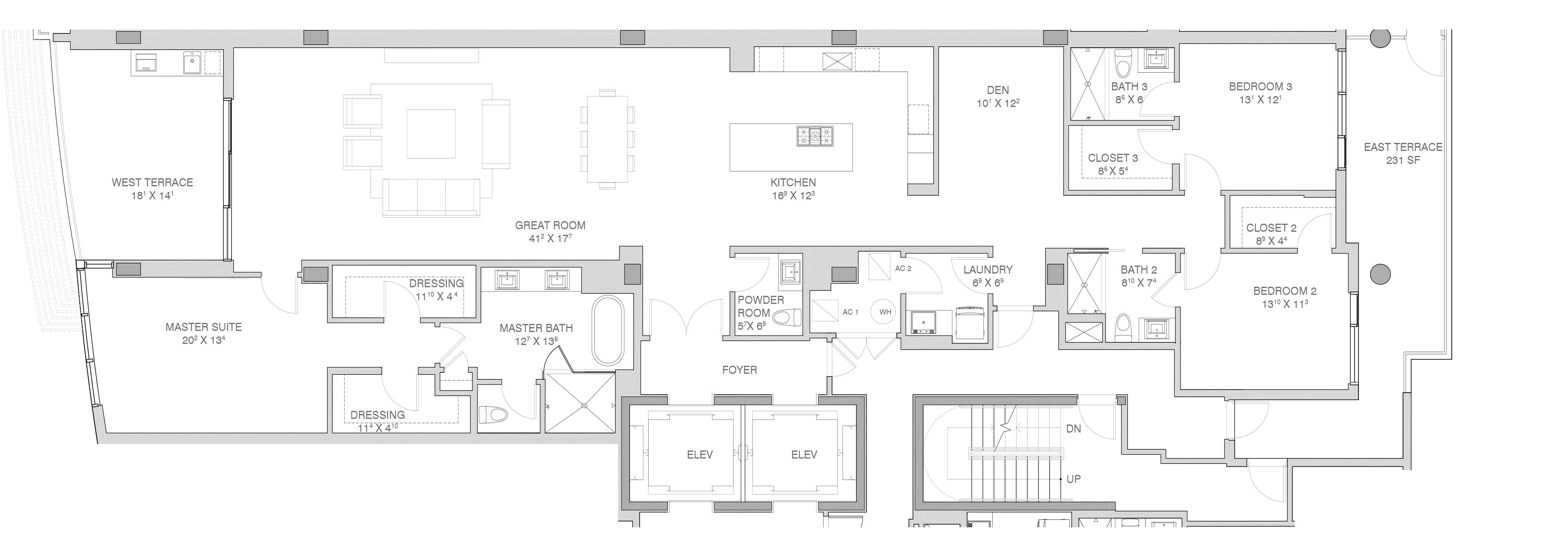 Adagio Fort Lauderdale Beach - Floorplan 2