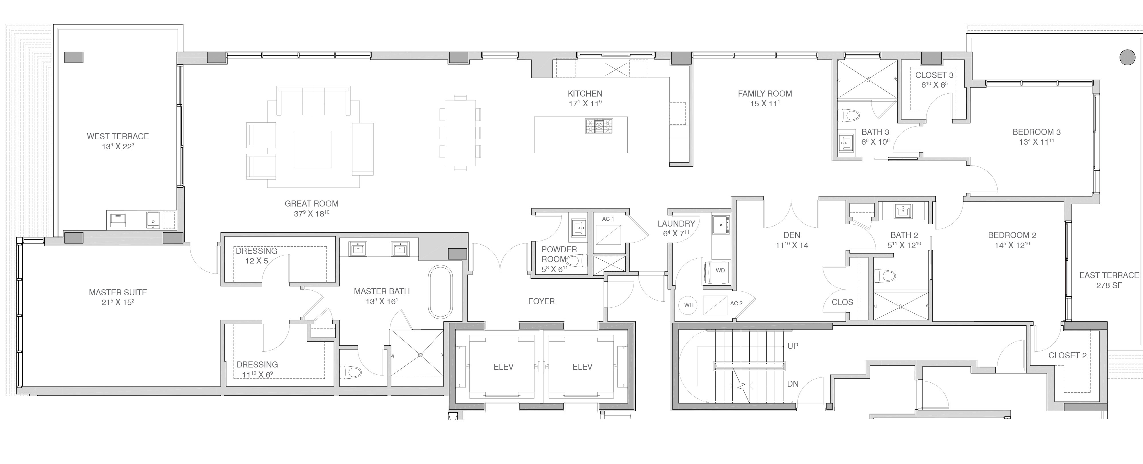 Adagio Fort Lauderdale Beach - Floorplan 4