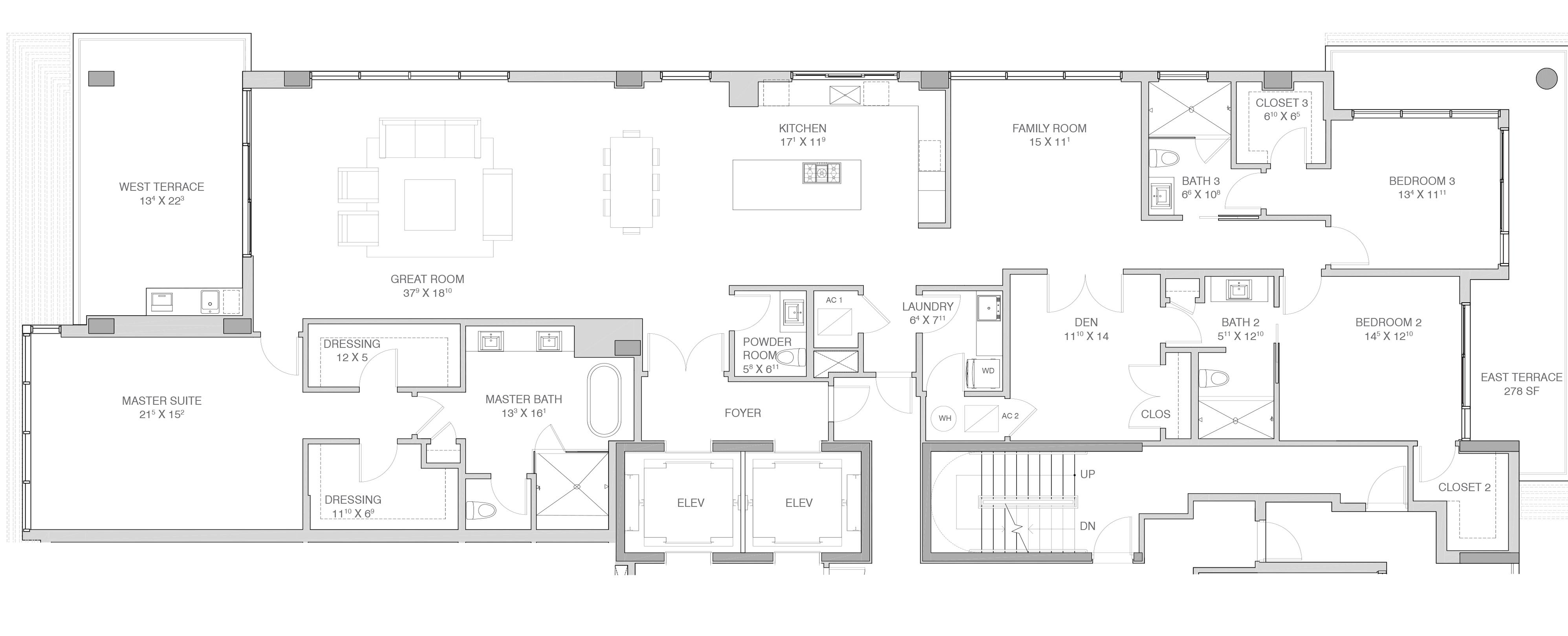 Adagio Fort Lauderdale Beach - Floorplan 4