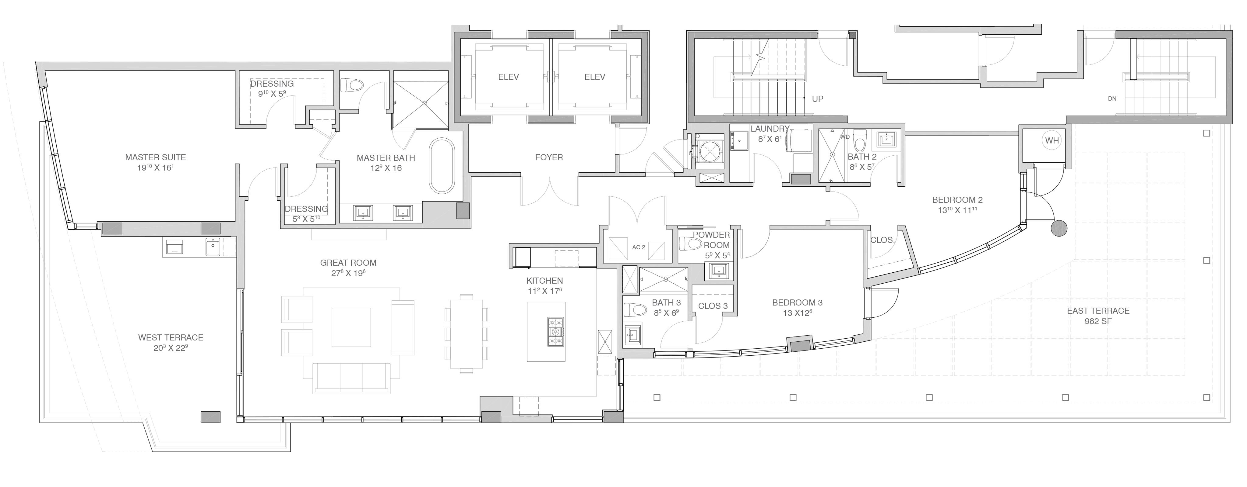 Adagio Fort Lauderdale Beach - Floorplan 5