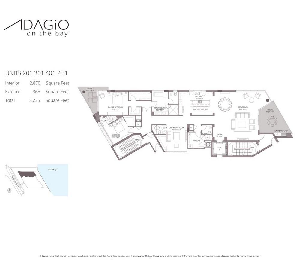 Adagio on the Bay - Floorplan 1