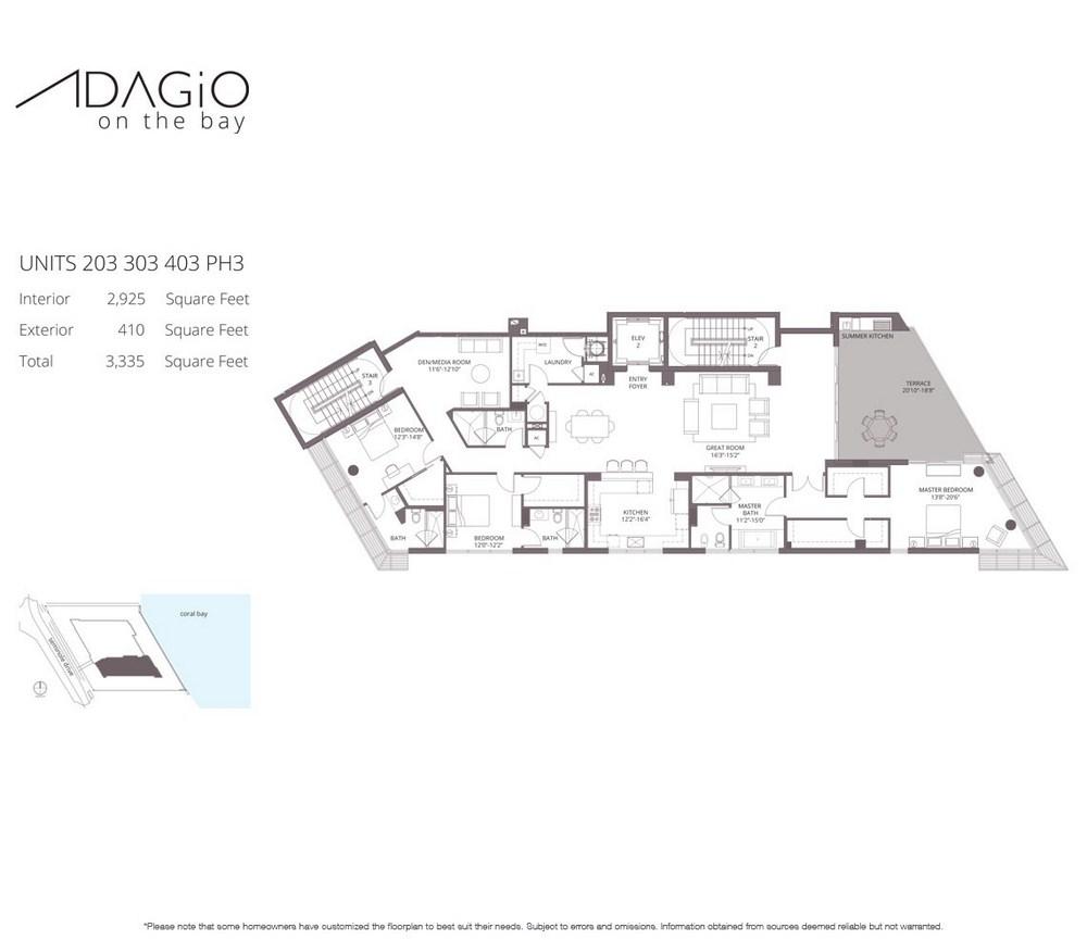 Adagio on the Bay - Floorplan 3