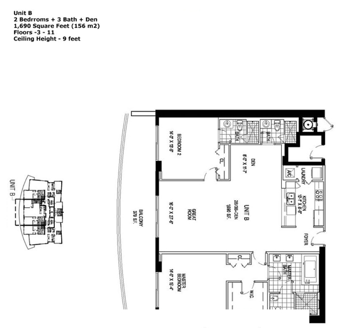 Apogee Beach - Floorplan 3