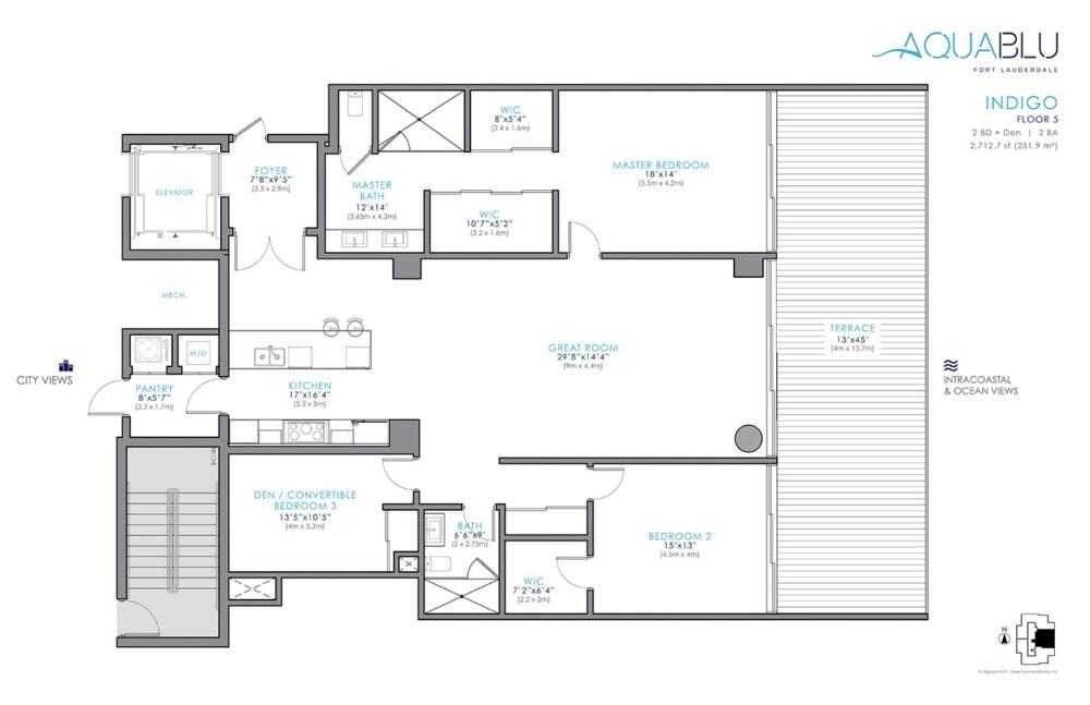 AquaBlu - Floorplan 1