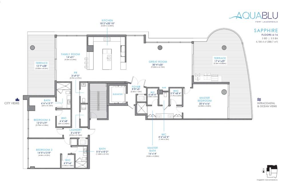 AquaBlu - Floorplan 2