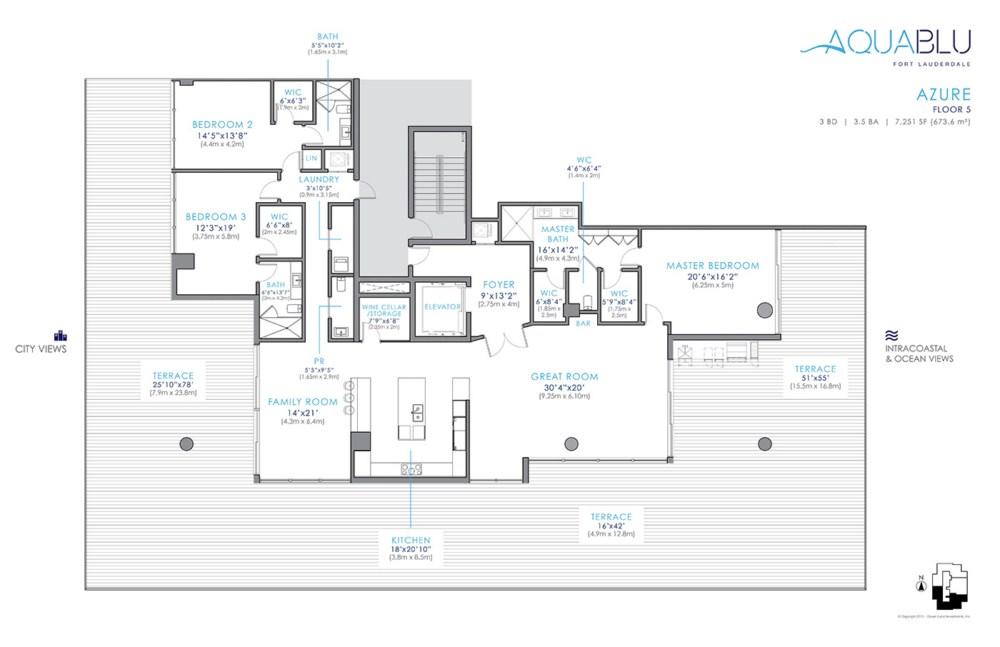AquaBlu - Floorplan 3