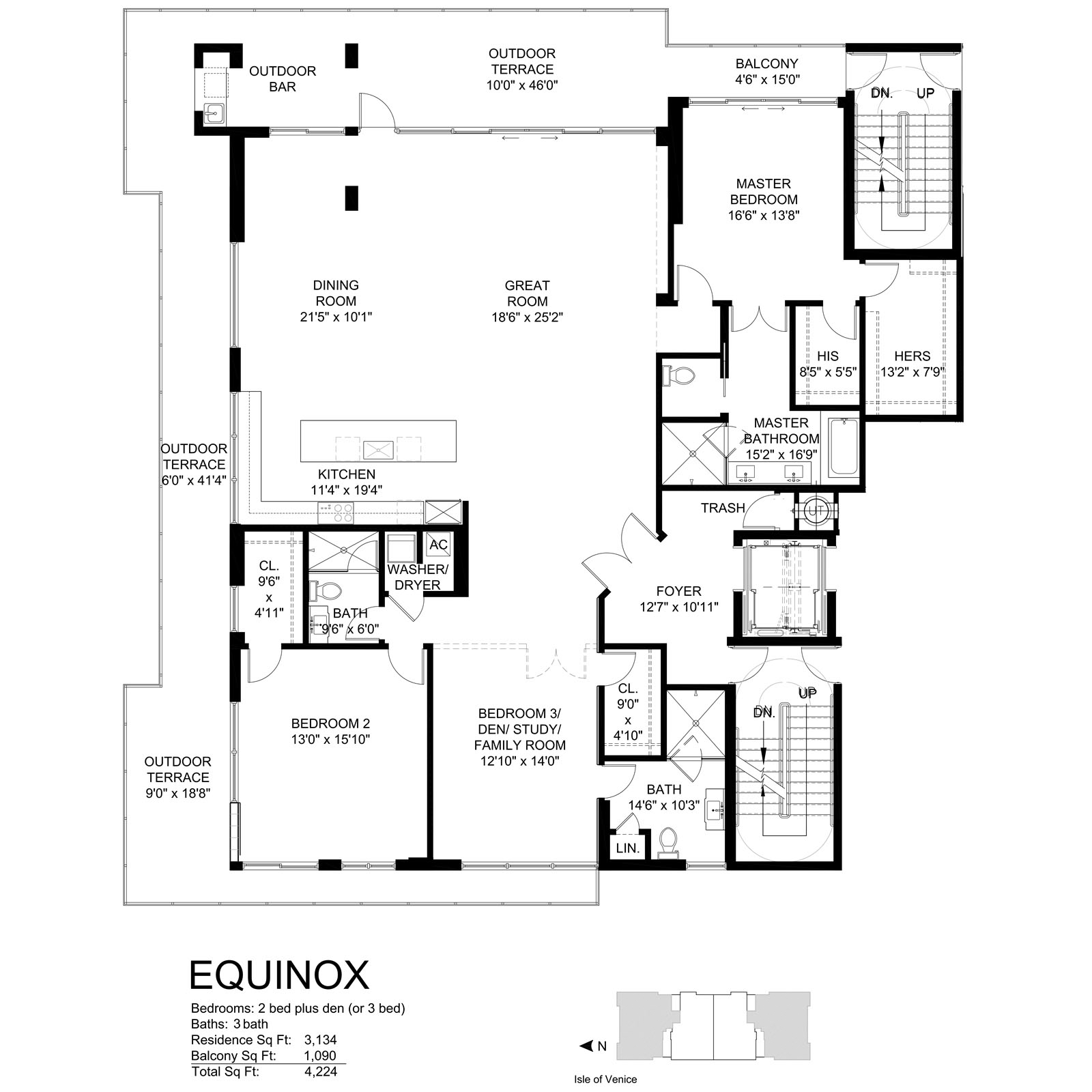 Aqualuna Las Olas - Floorplan 2