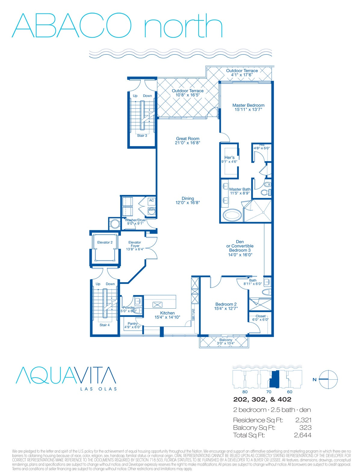 Aquavita Las Olas - Floorplan 1