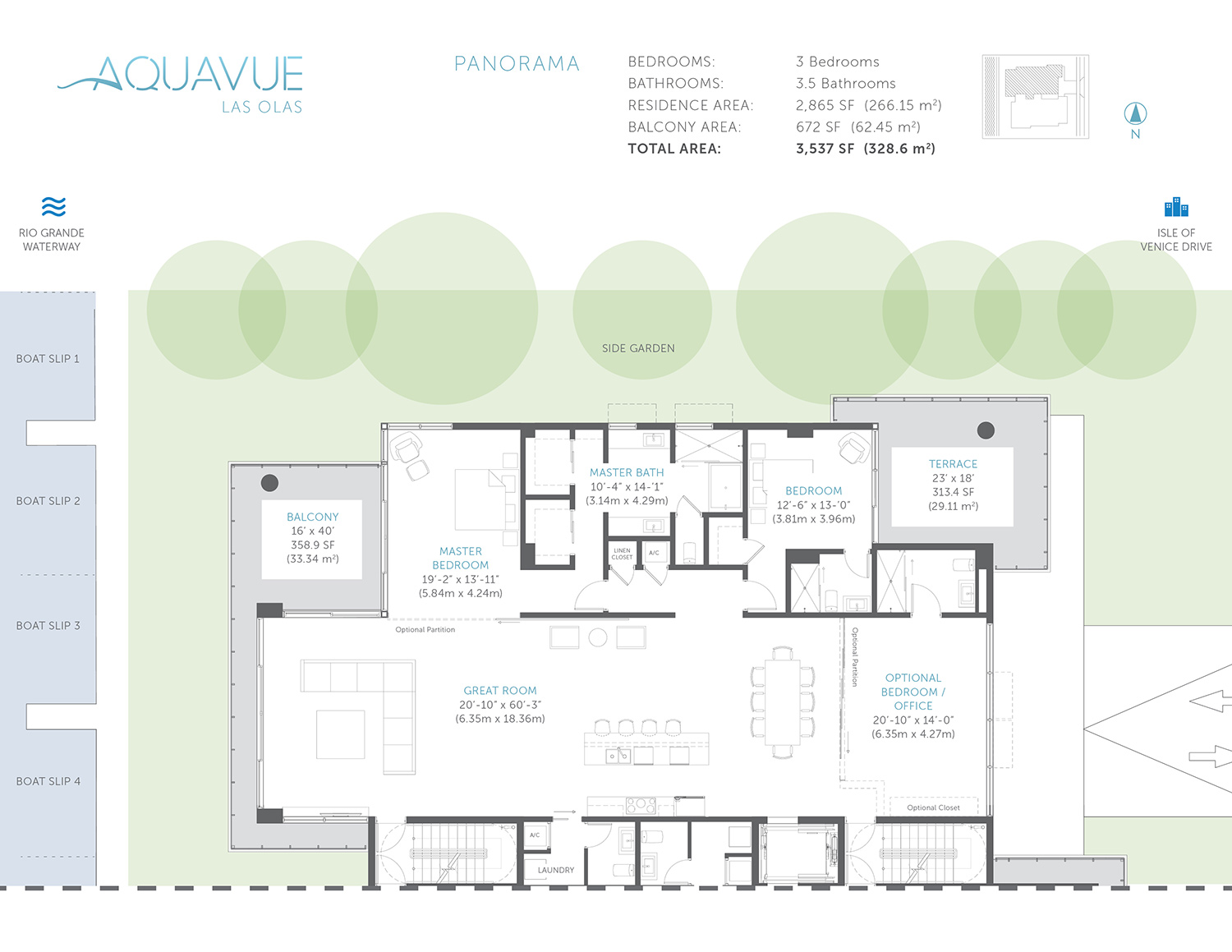 Aquavue Las Olas - Floorplan 1
