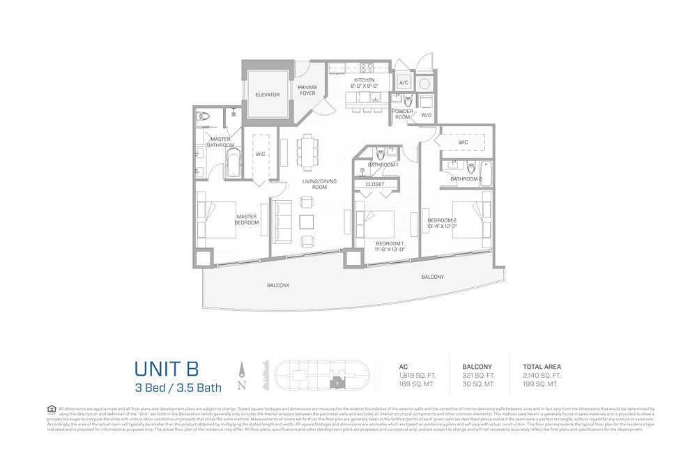 Aria on the Bay - Floorplan 1