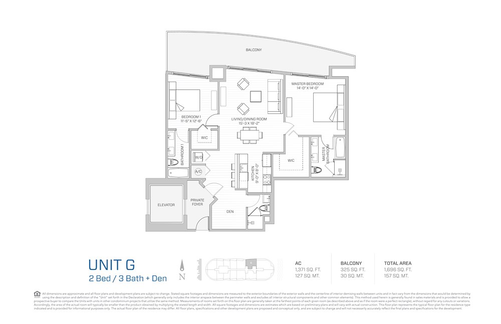 Aria on the Bay - Floorplan 6