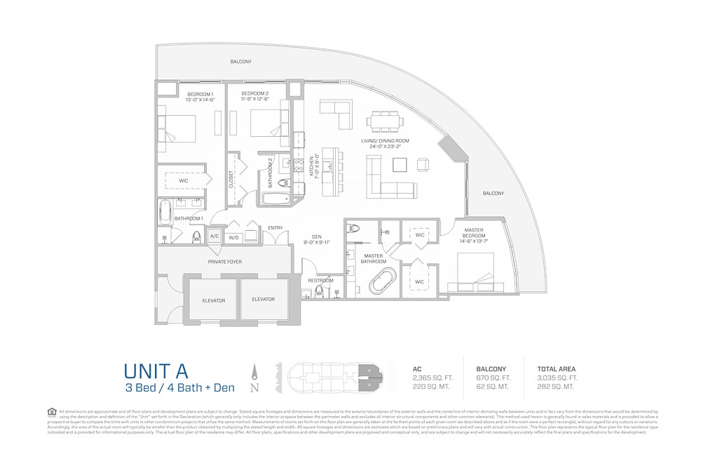 Aria on the Bay - Floorplan 7