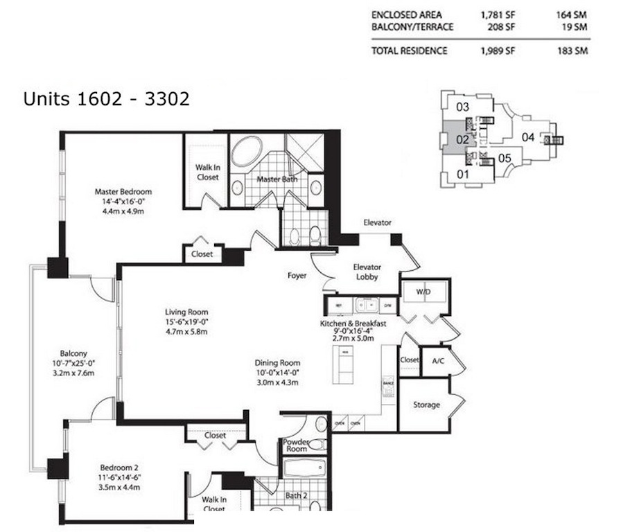 Asia Brickell Key - Floorplan 3
