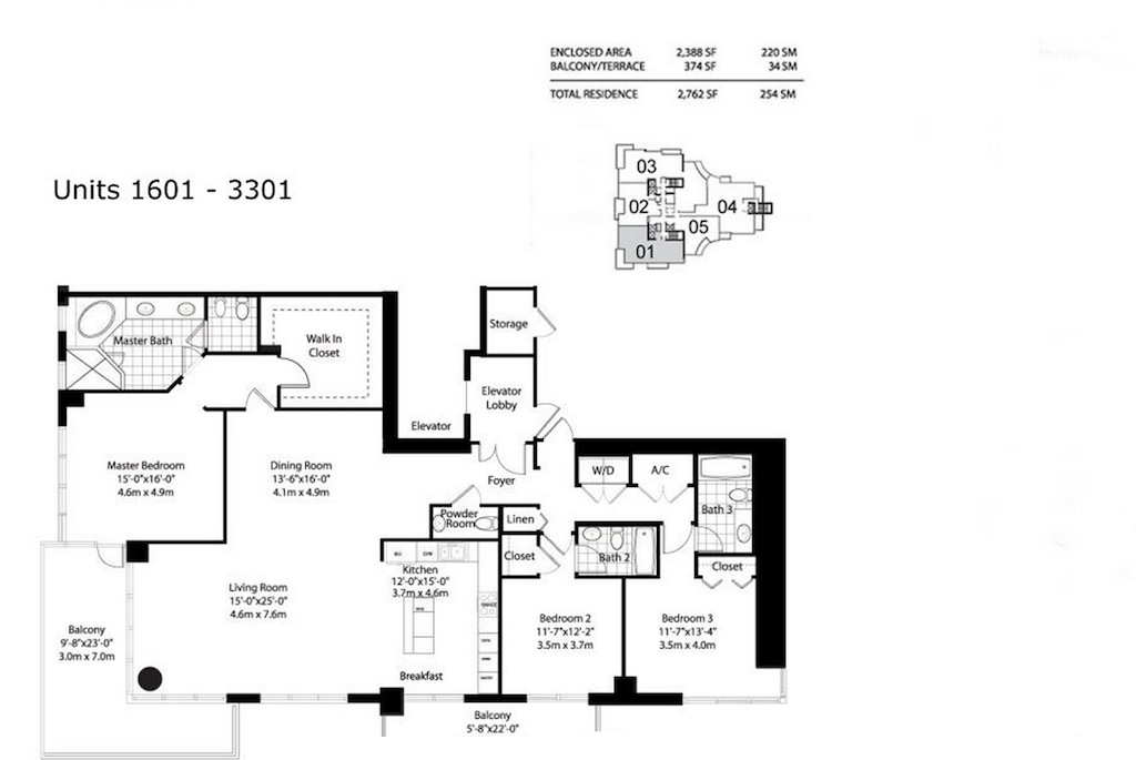 Asia Brickell Key - Floorplan 4