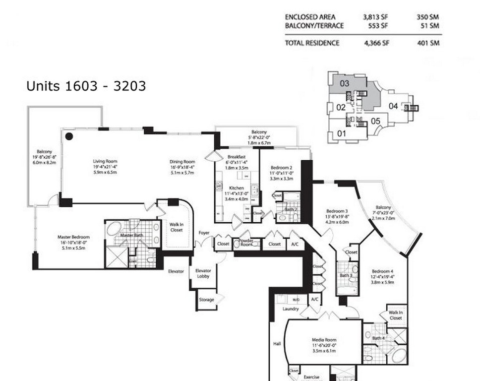 Asia Brickell Key - Floorplan 5