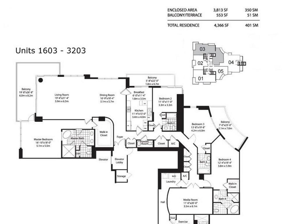 Asia Brickell Key - Floorplan 5