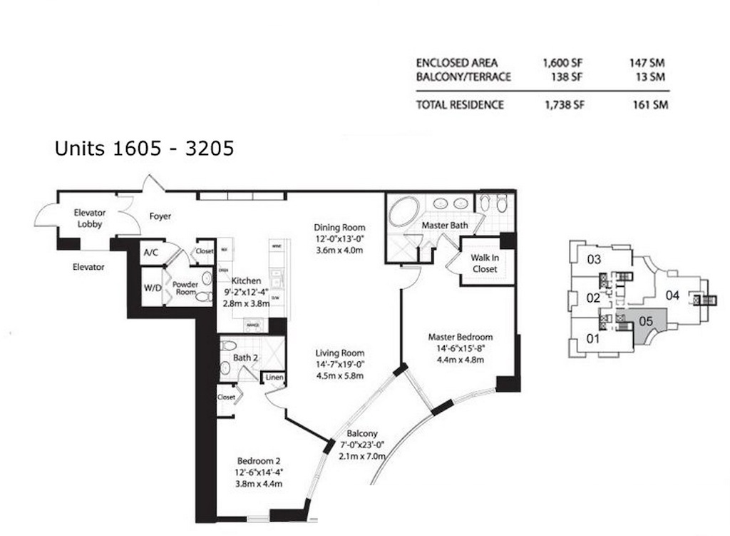Asia Brickell Key - Floorplan 6