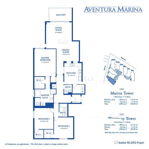 Aventura Marina - Floorplan 1