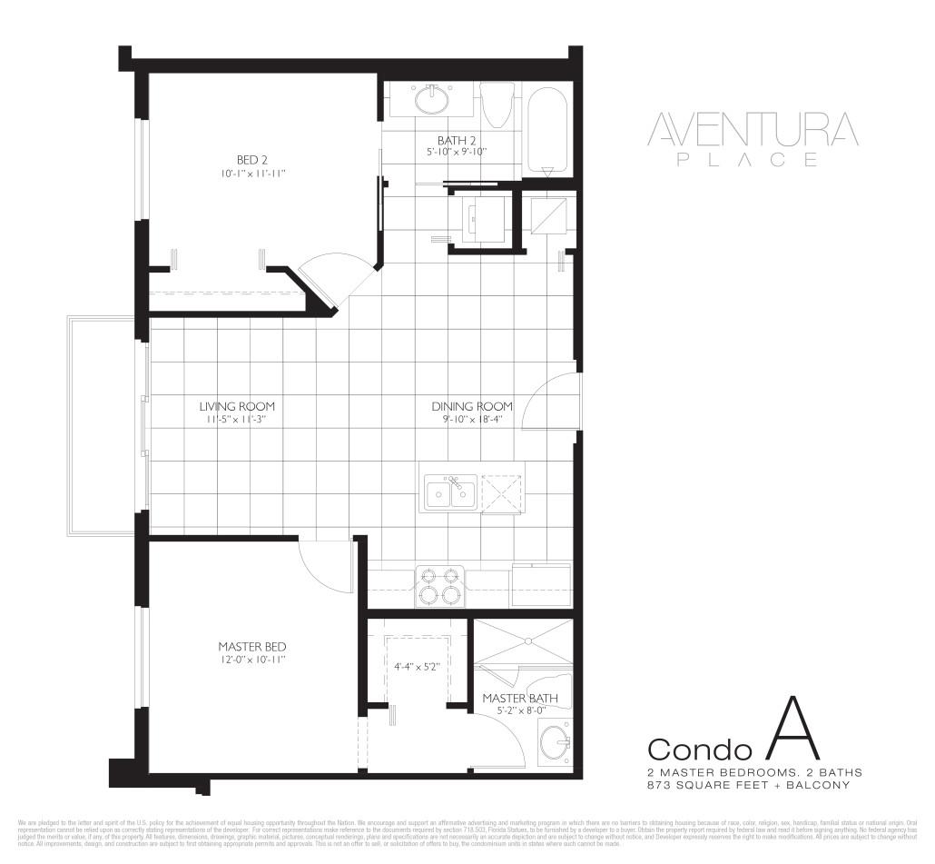 Aventura Place - Floorplan 1