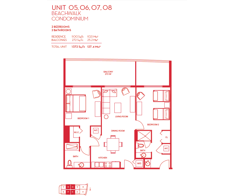 Beachwalk Resort - Floorplan 2