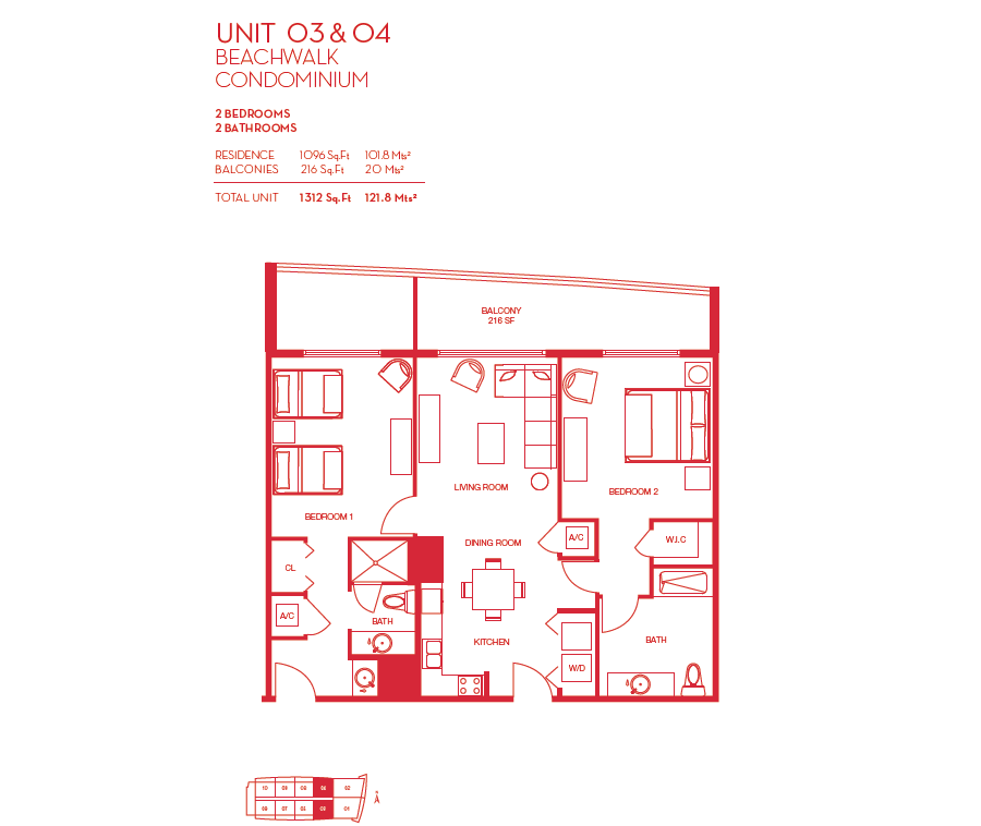 Beachwalk Resort - Floorplan 4