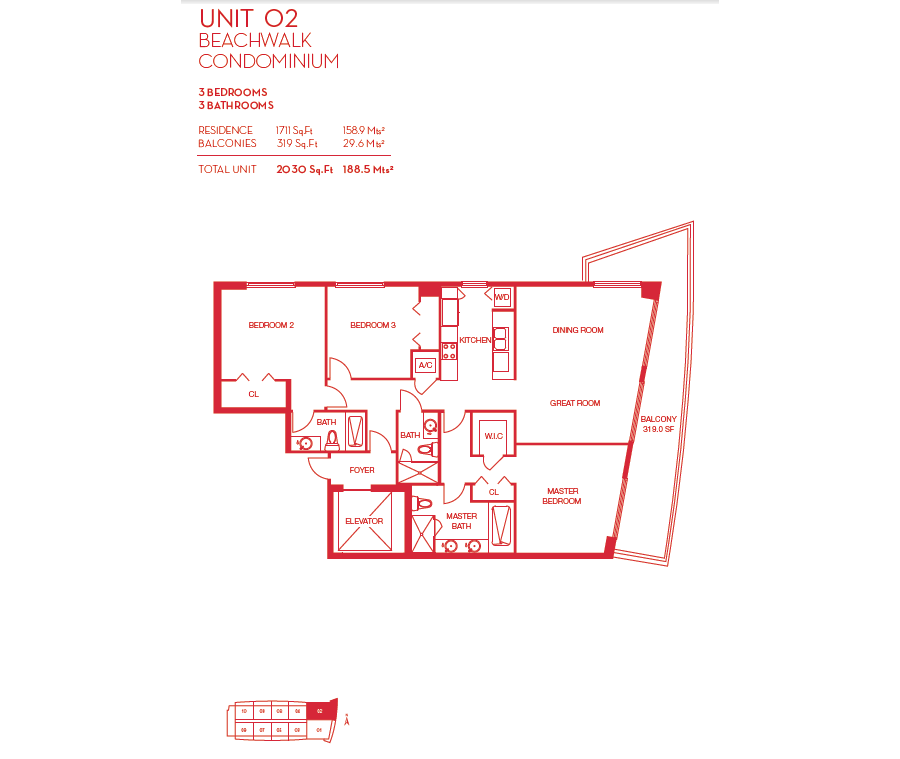 Beachwalk Resort - Floorplan 5