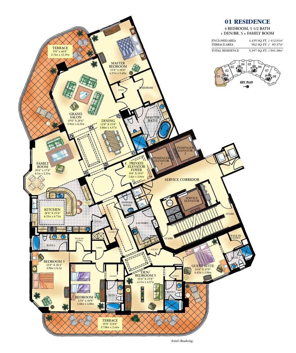 Bella Mare - Floorplan 1