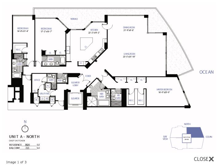 Bellini Bal Harbour - Floorplan 1
