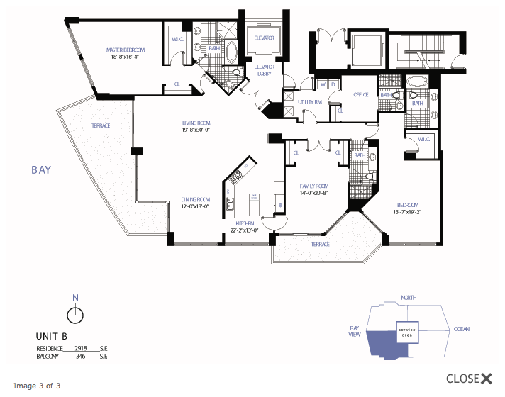Bellini Bal Harbour - Floorplan 3