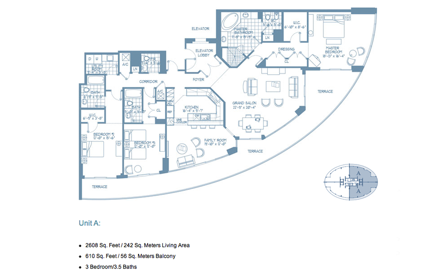 Bellini Williams Island - Floorplan 2