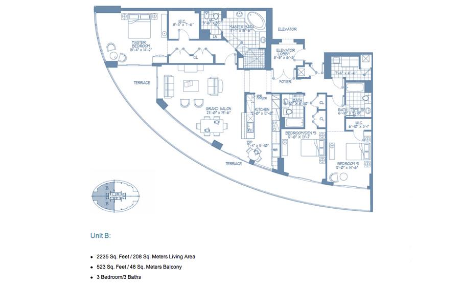 Bellini Williams Island - Floorplan 3